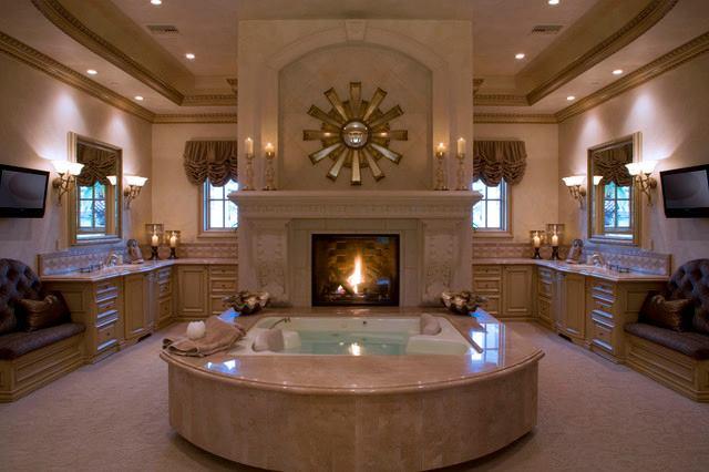 Illuminare una stanza da bagno tra candele e luci a led